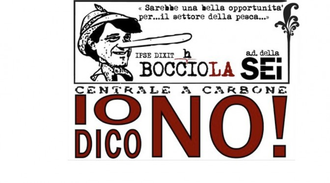 Io dico NO! Fabio Bocchiola als Pinocchio dargestellt.