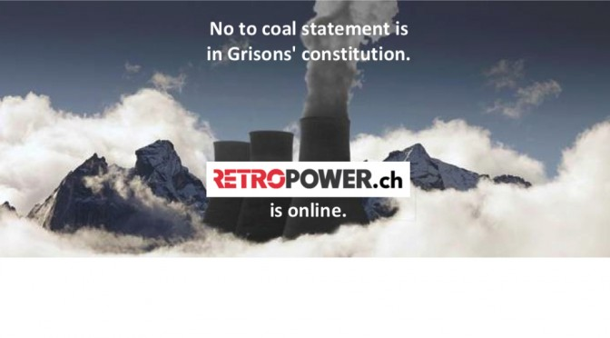 Repower: Statement against coal power included in Grisons' constitution