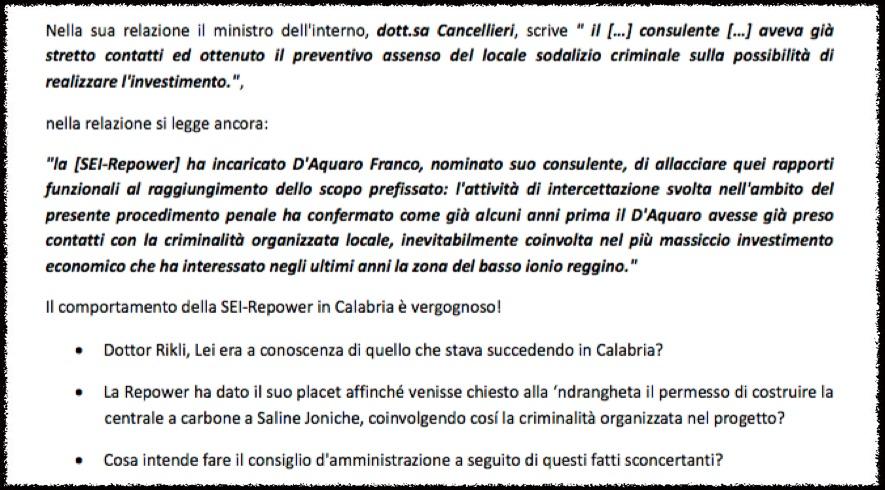 Intervento Paolo Catanoso, Assemblea Generale Repower, Poschiavo 2013
