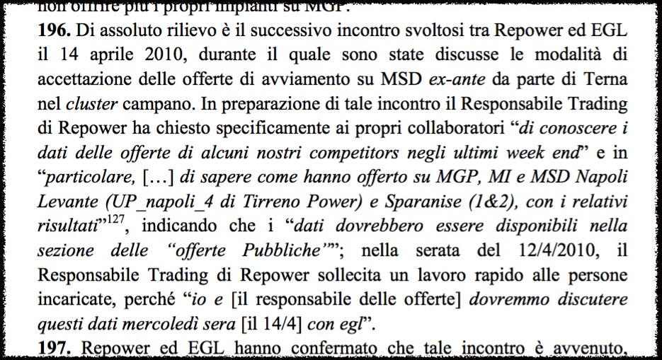 Auszug aus dem Urteil der Italienischen Martkaufsicht. Decreto Legislativo 2 luglio 2010, n. 104