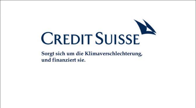 Credit Suisse verschlechtert das Klima