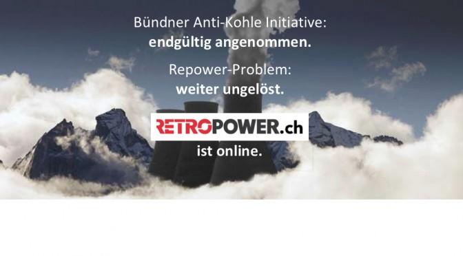 Anti-Kohle Initiative angenommen, Retropower.ch online