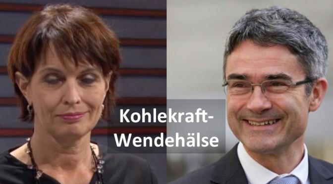 Wendehälse in der Sache Kohlestrom Doris Leuthard und Mario Cavigelli